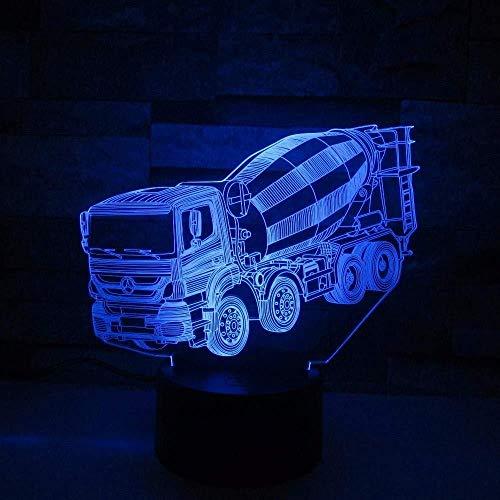 Excavateur emmer reuze-tractor mengpaneel beton transpalette vrachtwagen 3D nachtlicht geschenk tafellamp touchscreen kleur verwisselbaar Touch 7 kleuren