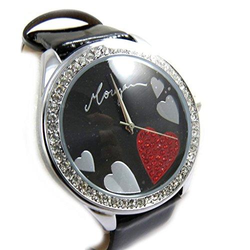 Morgan [M1280] - Designer-Uhr 'Morgan' schwarz (Love Love).