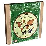 Arenart | 1 Reloj Mapamundi Ø38 cm| para Pintar con Arenas de Colores | Manualidades...