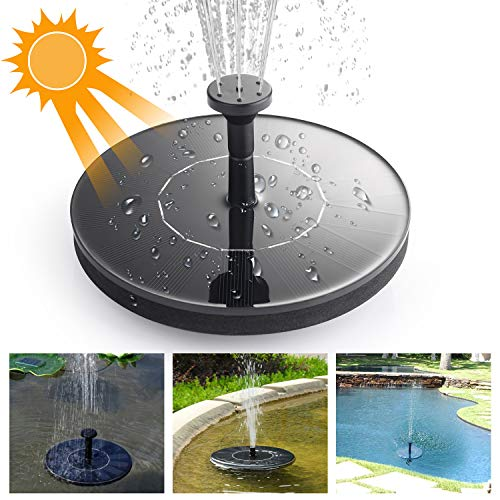 Ulikey Solar Springbrunnen, 1.4W Solar Teichpumpe, Solar Pumpe Springbrunnen, Solar Wasserpumpe Fontäne Pumpe für Gartenteiche, Pool, Aquarium, Gartenteich, Fisch-Behälter