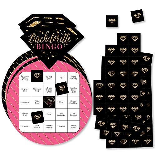 Big Dot of Happiness Girls Night Out - Juego de 18 tarjetas de bingo en forma de bingo para bachelorette
