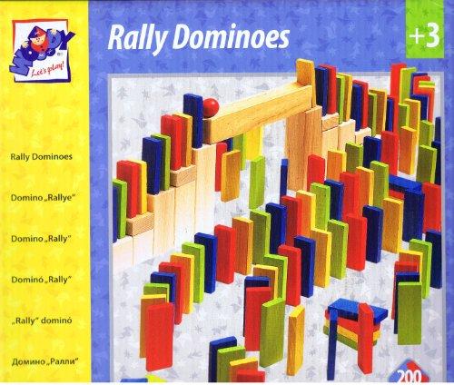 200 unità / Pietre Blocchi di Legno - Mattoni di Legno Domino Day Giocattoli di Legno - Kinderland - Block Bambina Bambino