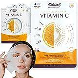 Maschera viso Illuminante e Anti macchia Idratante con Vitamina C e Acido Ialuronico di Ardaraz