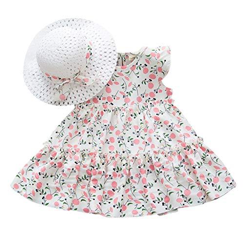 Comie Falda para bebé con volantes sin mangas, vestido de flores, tutú, de manga corta, pelele de princesa, tutú, tul de verano, para tartas, juego de ropa de bebé. Blanco 120 cm