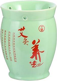 Hemoton Dubbellaags Keramische Moxibustion Pot Kan Tin Moxa Cup Massage voor Spa Thuis Massage Tool