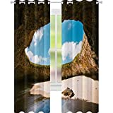 YUAZHOQI Cortinas para sala de estar La Playa Escondida Islas Marietas Puerto Vallarta Cortinas para dormitorio 132 x 274 cm