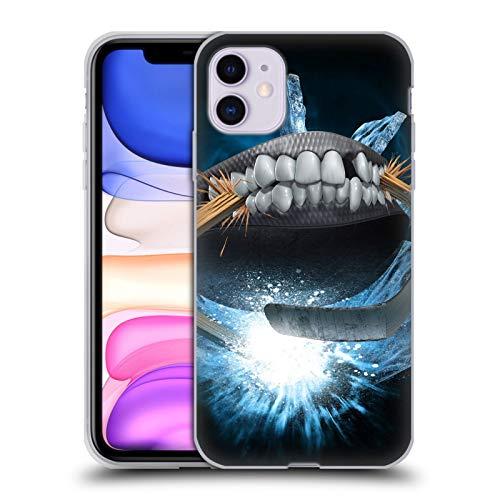 Head Case Designs Offizielle Tom Wood Hockey Monster Soft Gel Handyhülle Hülle Huelle kompatibel mit Apple iPhone 11