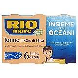 Rio Mare Tonno all'Olio di Oliva, Qualità Pinne Gialle, Certificato MSC, 6 Lattine da 80g