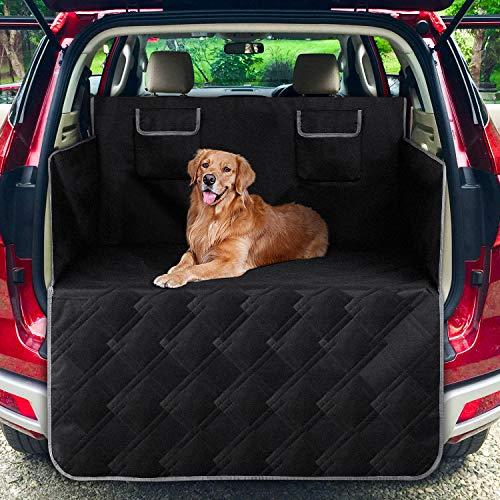 femor Kofferraumschutz Hund, Universal Auto Kofferraumschutzdecke Reißfeste & Wasserdichter, Kofferraummatten mit Seitenschutz Schützt