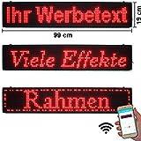 LED-Laufschrift 99x19 Rot WiFi