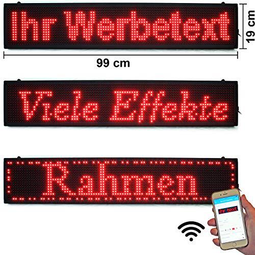 LED-Laufschrift 99x19 Rot WiFi programmierbar Schild LED-Anzeige