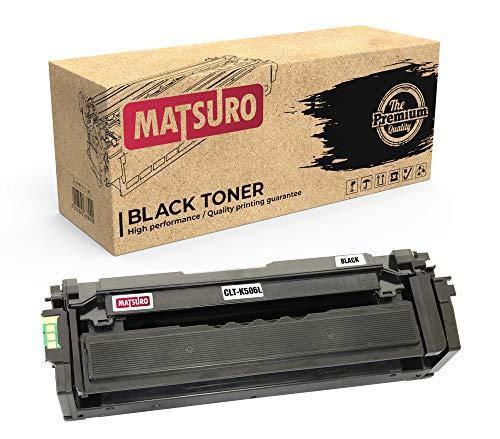 Matsuro Original   Compatible Cartucho de Toner Reemplazo para Samsung CLT-K506L (1 Negro)
