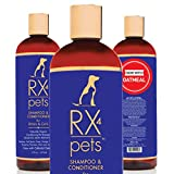 RX4 Dog Cat Shampoo Conditioner - Naturally Organic Oatmeal Aloe Puppy Treatment, Supplies...