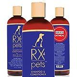 RX4 Dog Cat Shampoo Conditioner - Naturally Organic Oatmeal Aloe Puppy...
