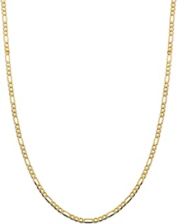 10K Yellow Gold 3.5mm Figaro Chain Necklace, Available in 20 to 26 inch