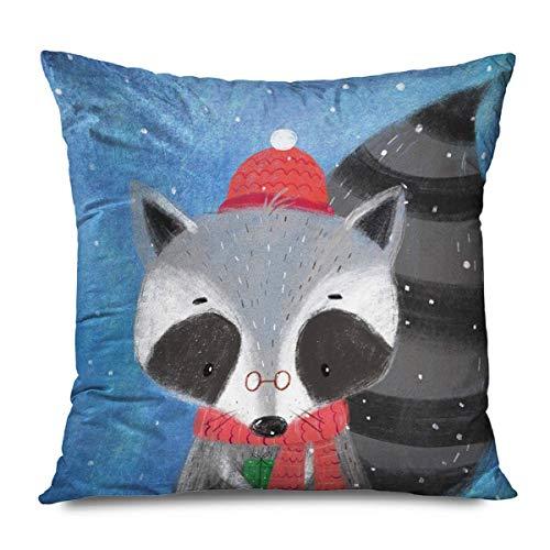 Suo Long Kissenbezug Aquarell Baby Frohe Weihnachten Frohes Neues Jahr Tiere Wildlife Natur Schöner Charakter Netter Kissenbezug