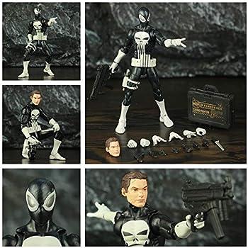 Junww Custom ML Legends Punisher Spider Noir Agent Peter Parker Stealth 6  Action Figure Frank Parker Man Repainted Toys Doll Model