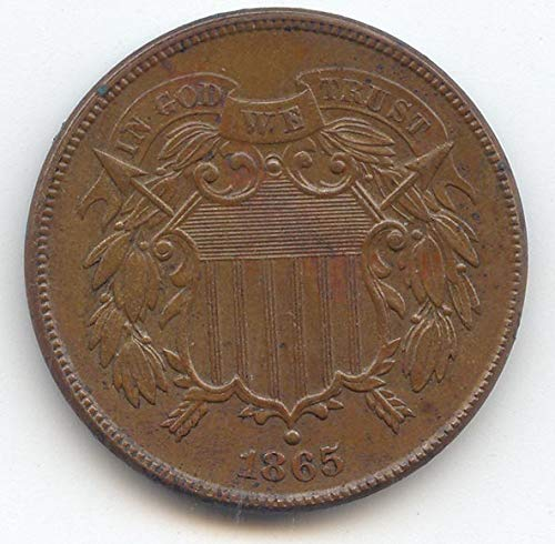 1865 Two Cent Piece Choice About Uncirculated