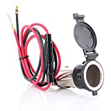 Neuftech 12V-24V Recessed Car Motorcycle Cigarette Lighter Socket Plug Socket - Waterproof
