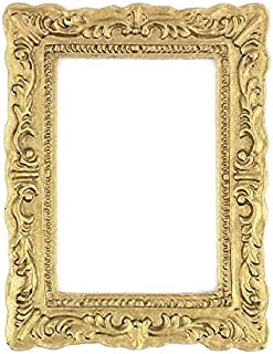 Dollhouse Miniature Antique Look Gold Frame