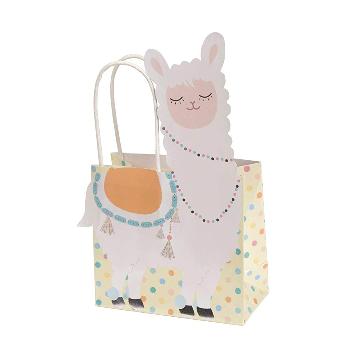 Neviti 776353 Llama Love-Gift Bag-5 Pack, Pastel Multi, 20.6 x 11.7 x 20.8
