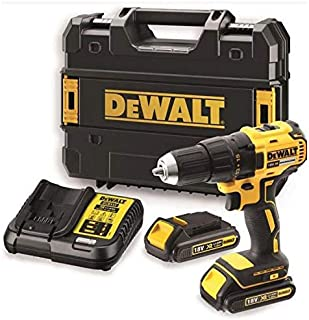 Dewalt Brushless Compact Drill Driver, Yellow/Black, 13 mm, Dcd777S2-Gb