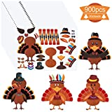 Value Packaging: You will get 20 turkey stickers, each containing 2 turkey body and 44 other turkey body parts stickers. Various rich and interesting elements have been designed. Material & Size: The size of each thanksgiving crafts for kids is 13.39...