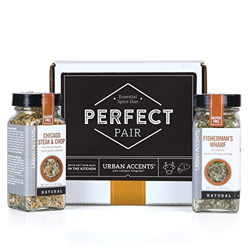 Urban Accents PERFECT PAIR, Essential Gourmet Spice Gift Set (Set of 2) - Two All Natural Versatile Spice Blends Perfect for any Meal- Great Gift for Weddings, Housewarmings or Any Occasion