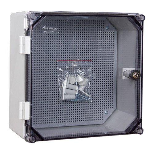 Schaltschrank mit Schloss UNI-0/T 300x300 x160 mm Verteilerschrank Industriegehäuse Leergehäuse Schaltkasten