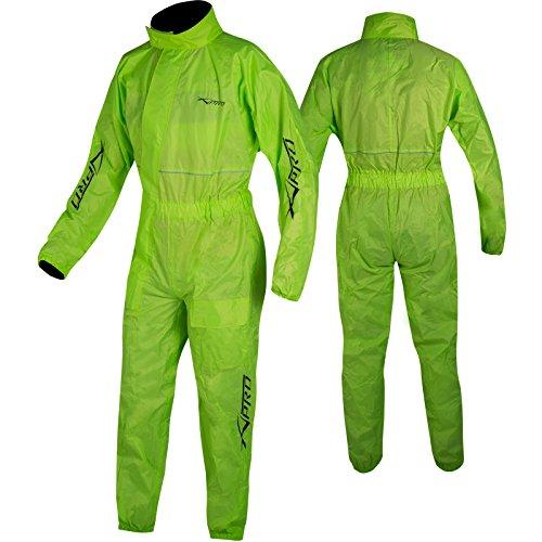 A-pro – Traje de lluvia para moto, mono impermeable, fluorescente, 1 unidad, talla L