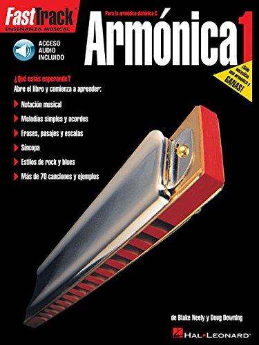 Fast Track Armonica 1 Harmonica (Book/Audio Spanish Edition