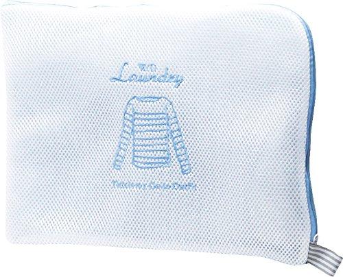 現代百貨 洗濯ネット W/D ランドリーネット フラット ブルー A256BL