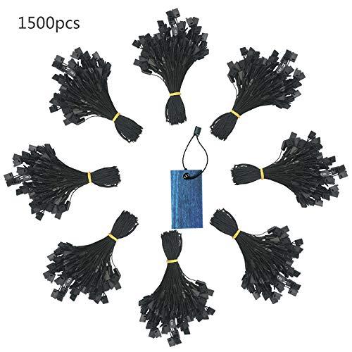 ropa etiqueta colgante ZERHOK 1500pcs ganchos de plástico nylon de sujetadores de etiquetas (negro)