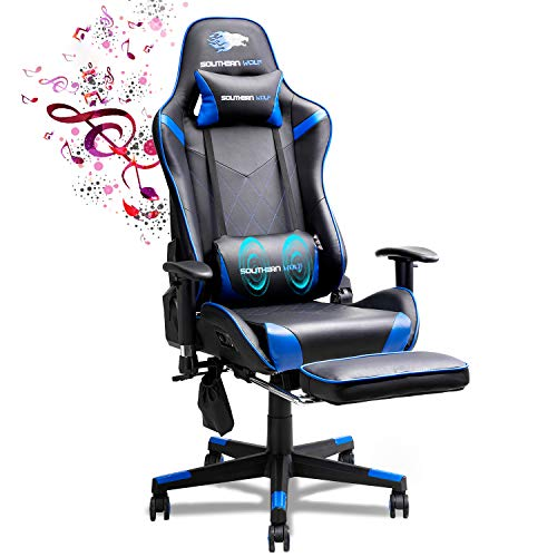 SOUTHERN WOLF Gaming Chair,Ergonomically Designed Massage Gaming Chair,Adjustable and Rotating Office Chair,Large Game Chair with Head and Lumbar Support…