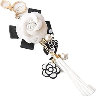 Bag Key Ring Car Key Camellia Flower Hat Tassel Key Chain Handbag Pendant