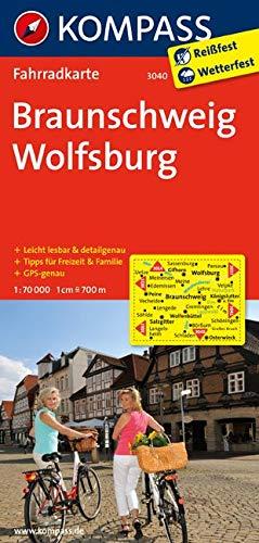 KOMPASS Fahrradkarte Braunschweig - Wolfsburg: Fahrradkarte. GPS-genau. 1:70000 (KOMPASS-Fahrradkarten Deutschland, Band 3040)