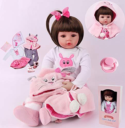 ZIYIUI 24 Pollici Reborn Bambino Bambole in Silicone Morbido Bambola Reborn Femmine 60 Centimetri Cheap Bambola Reborn Baby Toddler Giocattolo