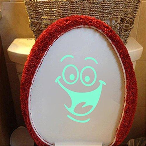 Autocollant lumineux de salle de bains Autocollant mural pour amusement de toilette Autocollant amovible lueur dans l'obscurité