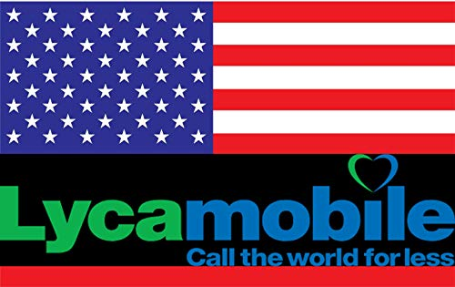 Prepaid Lycamobile SIM-Karte für USA & Puerto Rico mit Unlimited INTERNATIONAL Talk nach Deutschland und in mehr als 75 Länder, Unbegrenztes landesweites Gespräch & Text inklusive 1GB Daten.