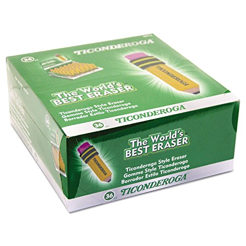 Ticonderoga 38936 Shaped Eraser Latex-Free 36/Box
