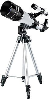 HD telescope تلسكوب مضغوط ومحمولة 70MM فتحة 300mm تلسكوب الانكسار الفلكي مع محول الهاتف الذكي ترايبود Portable