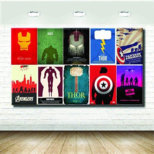 stampepersonalizzate.com - Imprimir en Lienzo - Formato Canvas - Formato 93X55 Solo Lienzo - Imprimir en Calidad fotográfica - Pinturas Cómics y cartones - Marvel Universe