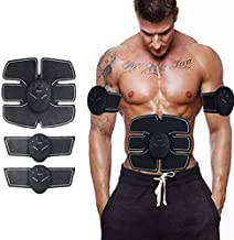 Piesome 6 pack abs stimulator/Wireless Abdominal and Muscle Exerciser Training Device Body Massager/6 pack abs stimulator charging battery/mart Fitness Abs Maker/Exerciser Training Device Massager
