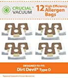 Crucial Vacuum Replacement Vacuum Bags Compatible with Dirt Devil Part # AD10030,3-04235-00,304235001,83-2450-06 & Models Type O,SD30040BR,SD30040CDI,SD30040BB,SD30040CBT,SD30040CS (12 Pack)