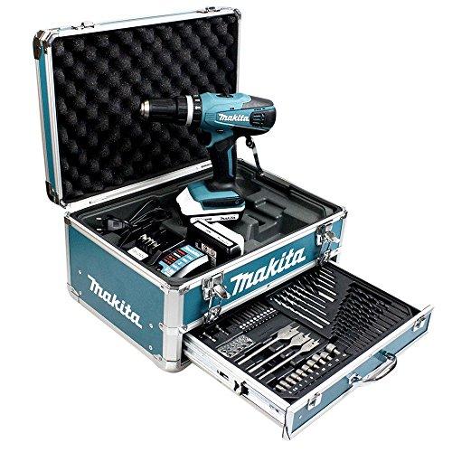 Makita HP457DWEX4 LI Percussion Trapano a Batteria da 18 V e 1.3 Ah