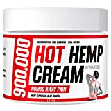Hot Hemp Cream - 900000 MG - Arthritis, Carpal Tunnel, Inflammation, Back, Foot, Nerve, Joint, Muscle, Neck Pain, Natural Stress Relief - MSM, Turmeric, Aloe, Arnica - Warming Topical Salve