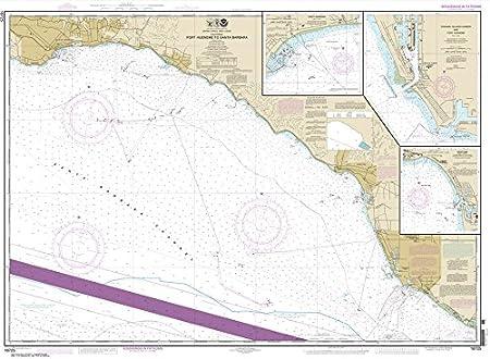Port Hueneme to Santa Barbara; Santa Barbara; Channel Islands Harbor Paradise Cay Publications NOAA Chart 18725