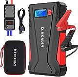 DINKALEN Booster Batterie Voiture 12800mAh 800A Portable Booster de Batterie Moto (Jusqu'à 6.0L Essence/5.0L Diesel) avec Écran LCD Pinces de Sûreté intelligentes Sorties QuickCharge 3.0 Lampe LED