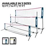 Boulder Portable Badminton Net - 14-Ft Small Net Set for Tennis,...