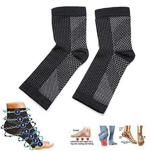 Dr Sock Soothers Socks Chaussettes de Soutien Anti-Fatigue pour Compression de La Gaine de Pied Anti-Fatigue pour La Fasciite Plantaire Achilles Cheville Anti-Fatigue (3 PCS) (L/XL)